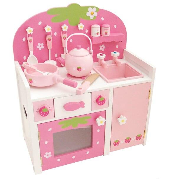 Игрушки для маленьких детей моделирование деревянный Кухня газовая горелка Игрушечные лошадки ребенка развивающие игрушки Ролевые игры и