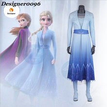 Queen Elsa Cosplay Froz 2 Anime Costume Halloween Dress Adult and Childrens Clothes Carnival Party Movie cos