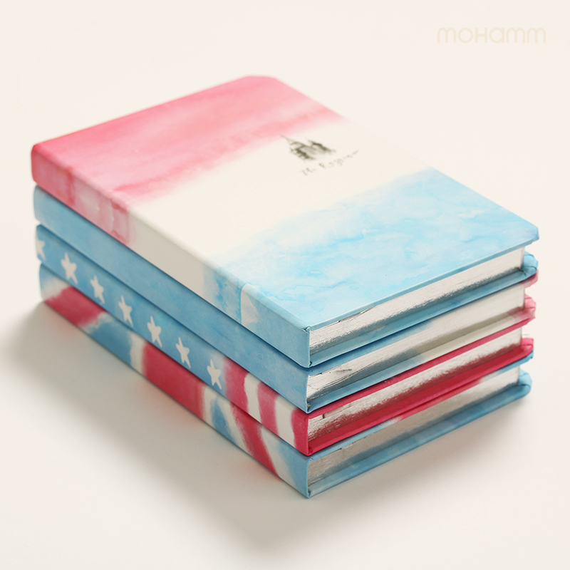 A6 Cute National Russia France United State 96 Sheets Notebook Office Accessory School Supply Stationery