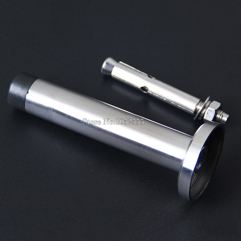 High Quality 2PCS/LOT 304 Stainless Steel Casting + Rubber Door Stop Door Stopper Doorstop K181 magnetic door stop stainless steel door stopper door holder doorstop drill door stop