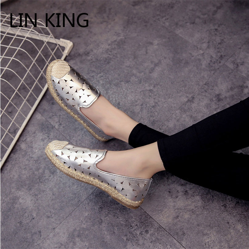 LIN KING Fashion Pu Leather Women Flats Shoes Round Toe Loafers Comfortable Slip On Casual Shoes Solid Breathable Girl Lazy Shoe lin king fashion pu leather women flats shoes round toe loafers comfortable slip on casual shoes solid breathable girl lazy shoe
