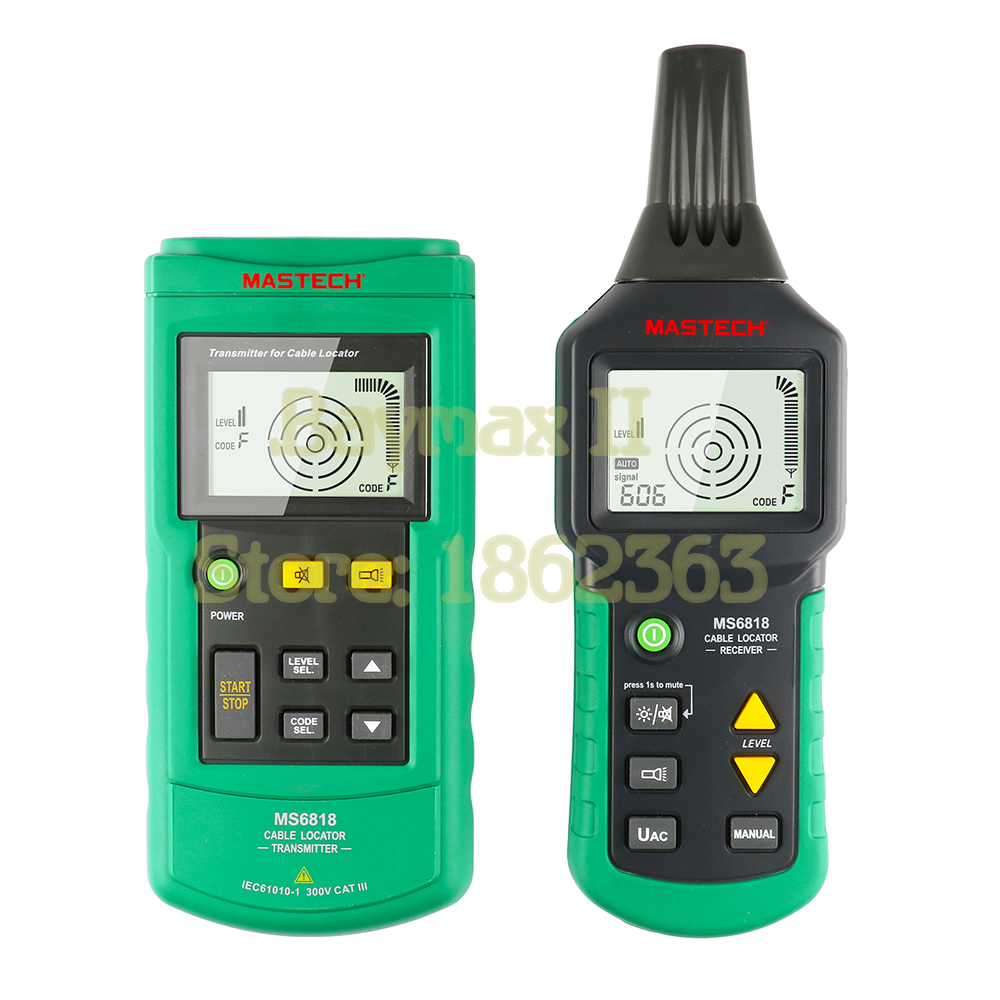 Mastech MS6818 Advanced Wire Tracker Cable Locator for Detecting Cables and Pipelines buried in Wall or