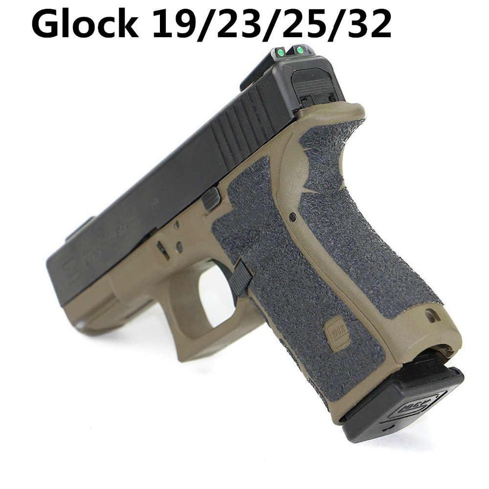 Kaymaz Kauçuk Doku Kavrama Bant Eldiven Glock 17 19 20 21 22 25 26 27 33 43 kılıf 9mm tabanca tabanca dergi aksesuarları