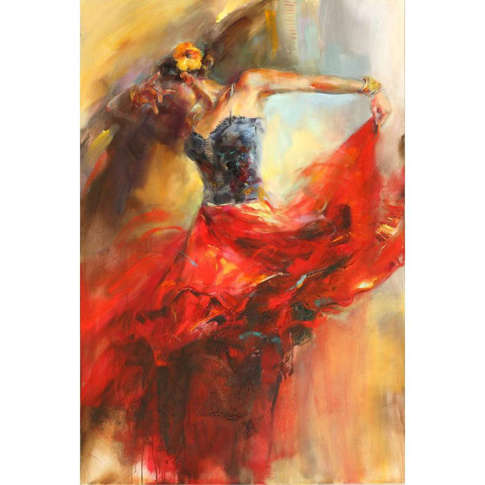 Wall art hand painted artwork paintings oil on canvas modern art Dances In Beauty Colors