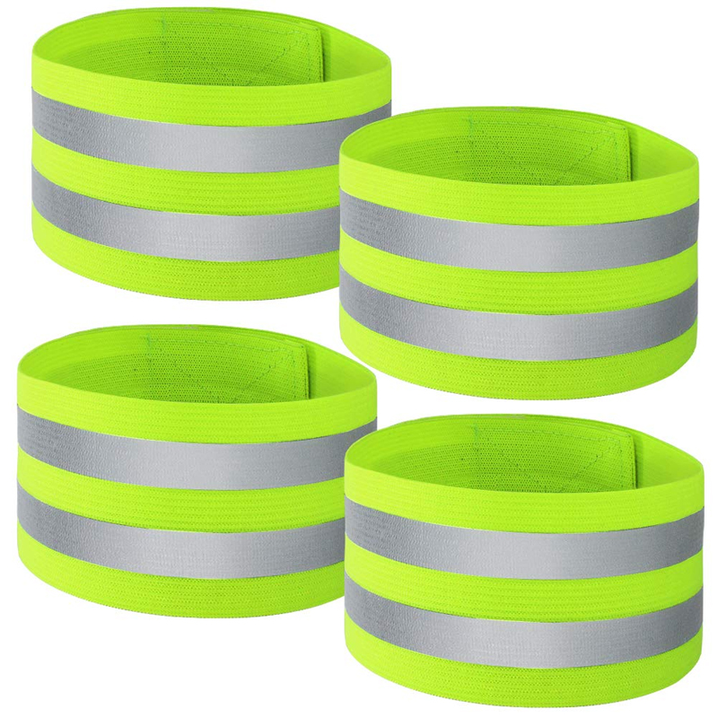 Safety Reflector Straps Reflective Bands Wrist Arm Ankle Leg High Visibility Reflective For Night Jogging Walking Biking 4pcs