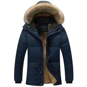 Image 4 - 2017 kış erkekler aşağı & Parkas pamuk yastıklı ceketler erkek rahat aşağı ceketler kalınlaşmak mont palto sıcak giyim büyük 5XL X579