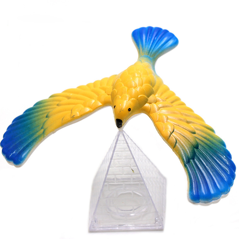 2019 HIINST Funny Amazing Balancing Eagle With Pyramid Stand Magic Bird Desk Kids Toy Fun Learn  L0709