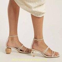 New Strange Heel Women Pumps Pointed Toe High Heels Female Wedding Dress Shoes Woman Stiletto Valentine Shoes Ball Heel Sandals