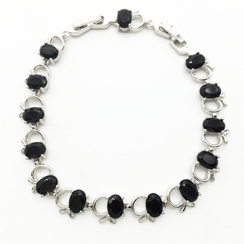 Black Color Crystal Apple white Gold color Bracelets Style AAA ...