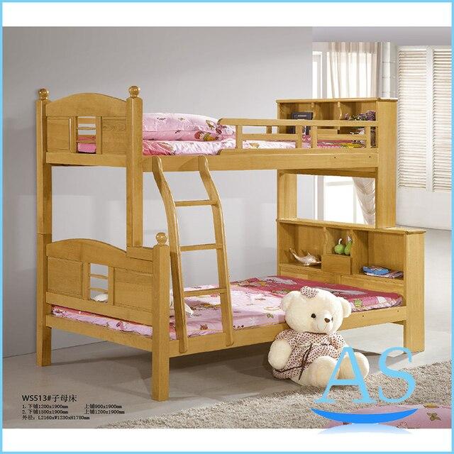 Popular buena calidad de madera de haya niños niños litera doble ...