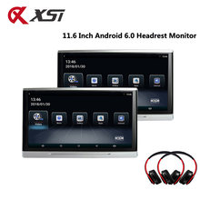 XST 11.6 Inch Android 6.0 Auto Monitor Hoofdsteun IPS Touch Screen HD 1080 P Video WIFI/USB/SD /Bluetooth/Fm-zender/Speaker(China)