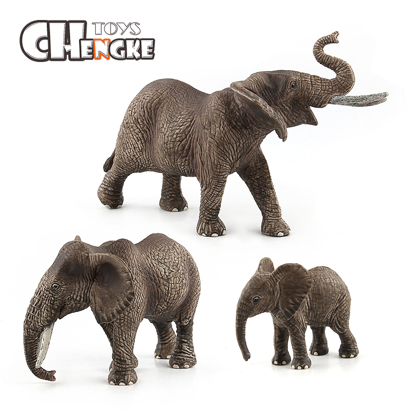 New Hot Animal World Elephant Model Educational Toys Funny Toy Model Toy Plastic Gifts For Children Puzzle Toys
