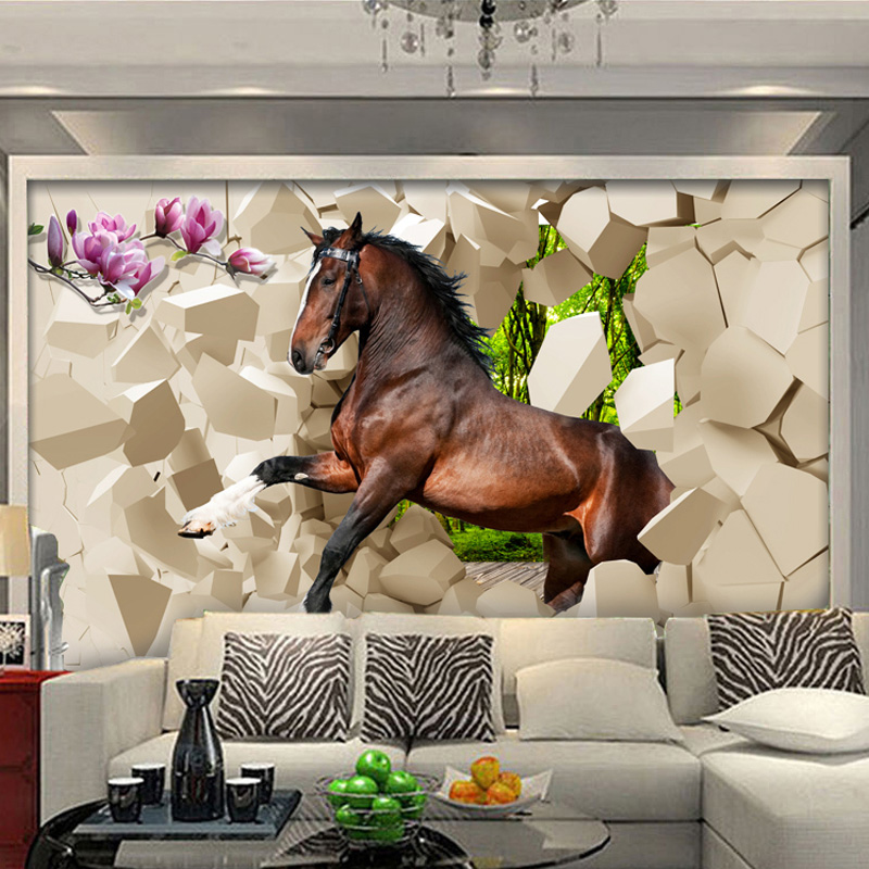 A7ef35 Buy 3d Horse Wallpaper And Get Free Shipping Zu
