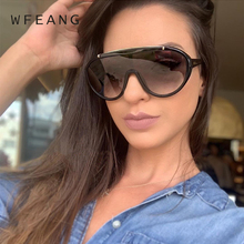 WFEANG Retro Oversized Sunglasses woman Classic Brand Designer Unisex UV400 Fashion Male Eyewear Travel Driving