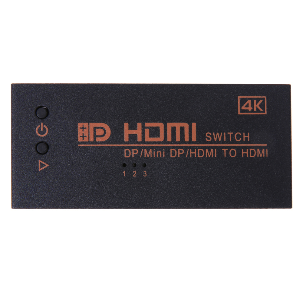 Dual HDMI & Mini DP Displayport in to 4K*2K HDMI out Switch Switcher HDMI Splitter Port for Macbook PC HDTVs HD-DVDs