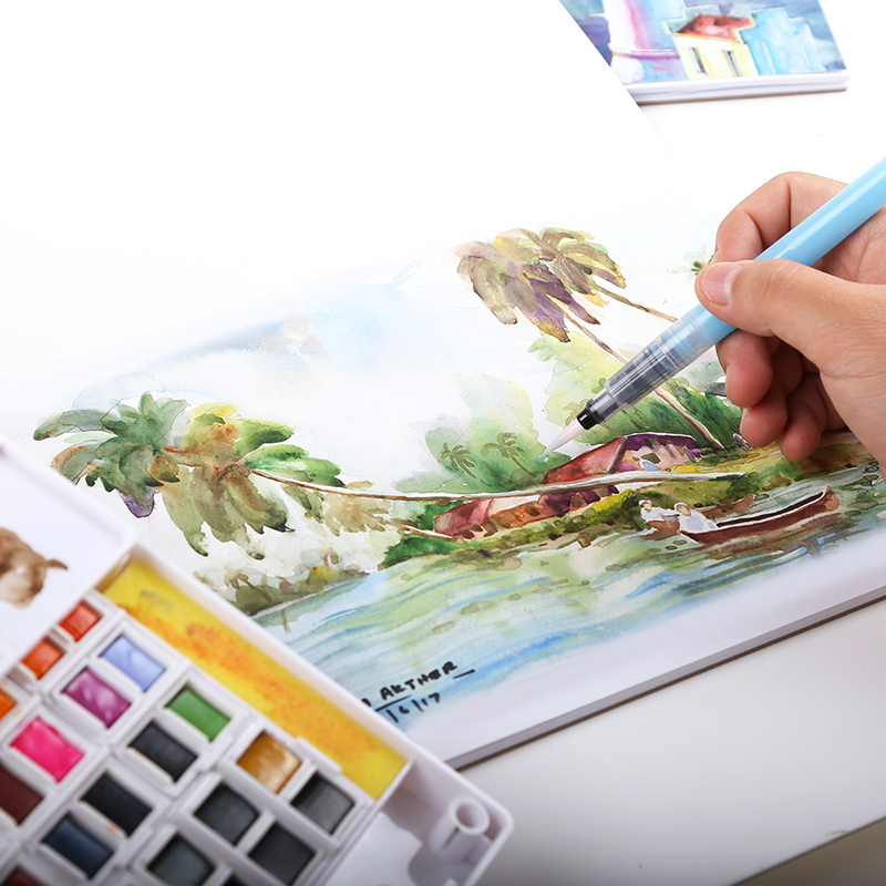 aliexpresscom buy premium art professional 300gsm watercolor paint paper water color pencil book coloring book for designer drawing sketch book from - Watercolor Coloring Book