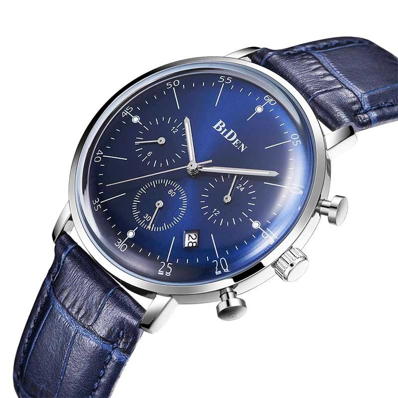 Relogio masculino montres hommes mode Sport boîte en acier inoxydable bracelet en cuir montre Quartz affaires montre-bracelet reloj hombre