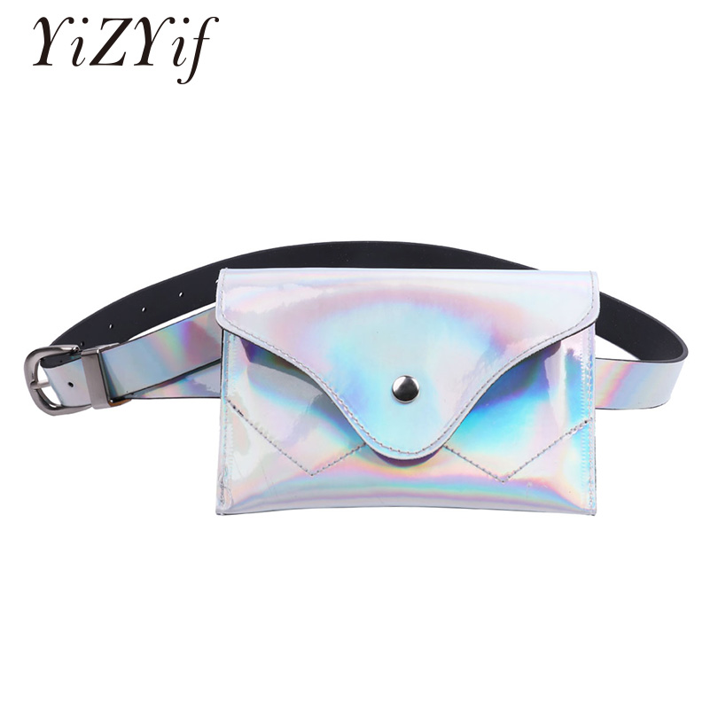 Phone Bags PVC Waist Bags For iphone Huawei Xiaomi Holographic Waterproof Waist Pouch Belt Bag Travelling Phone Purse