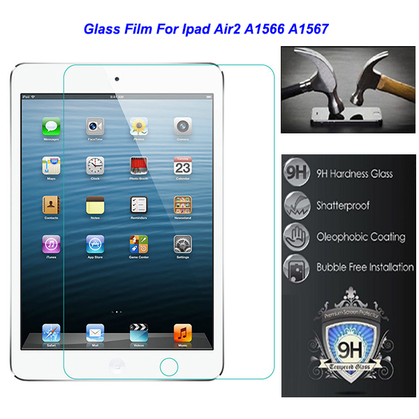 """For Apple Ipad6 Ipad 6 air2 air 2 A1566 A1567 Safety 7.9"""" 0.3mm Tempered Protective Glass Film  on Tablet"""