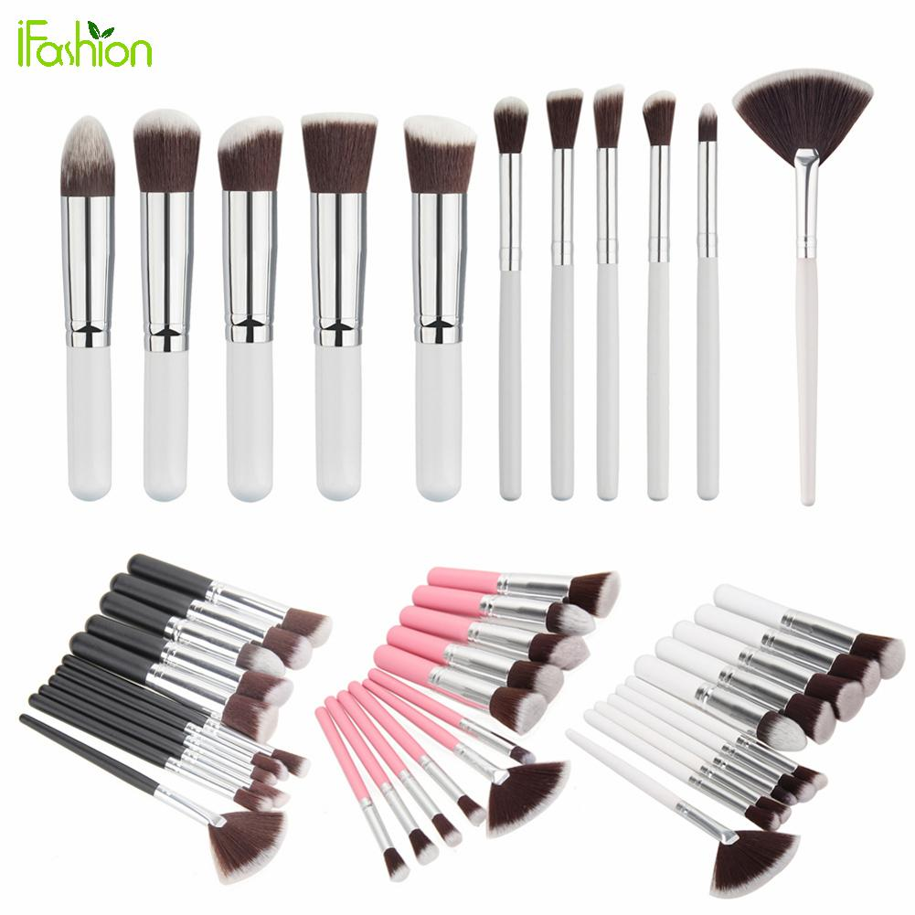 Top Quality Makeup Brushes Set For Cosmetic Blusher Powder Foundation Eyeshadow Lip Maquiagem Pincel 11pcs/lot Make Up Brush Kit top quality foundation brush angled makeup brush
