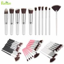 Top Quality Makeup Brushes Set For Cosmetic Blusher Powder Foundation Eyeshadow Lip Maquiagem Pincel 11pcs/lot Make Up Brush Kit