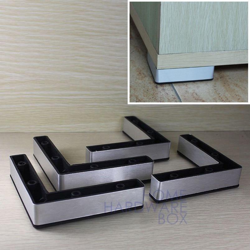 "Furniture Leg Cabinet Base Aluminum Plastic Corner L Feet 4.75"" 120mm plastic Feet corner Plasticcorner Aluminium - AliExpress"