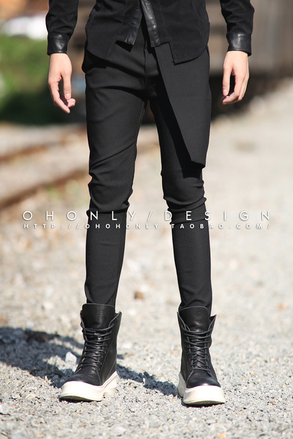 0b7578b9297be0 27-44 2017 herenkleding Mode Kapper slanke westerse stijl broek elastische rok  broek plus size