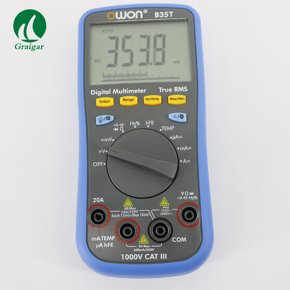 owon multimeter - OWON B35T Multimeter Digital T-RMS Multimeter Bluetooth Android Apple Datalogger + DMM and temperature meter