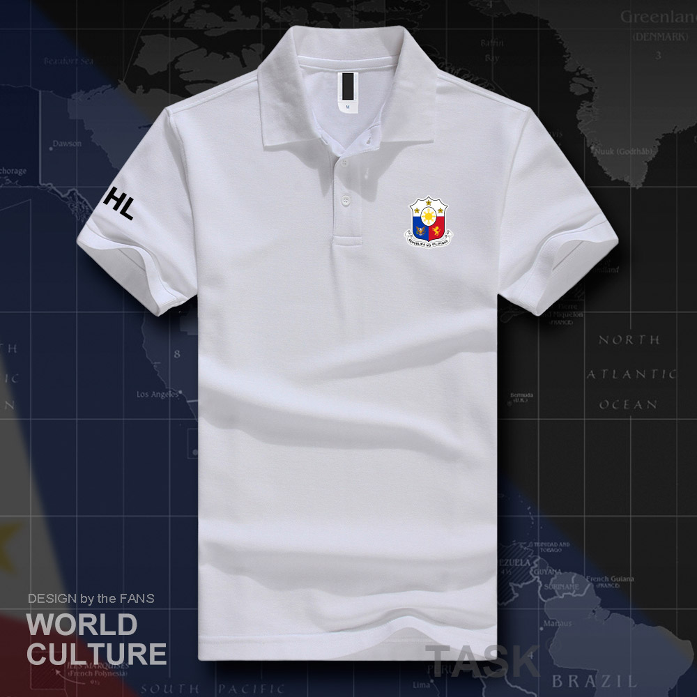 Philippines Pilipinas PH PHL PHI   polo   shirts men short sleeve white brands printed for country 2019 cotton nation team flag 20