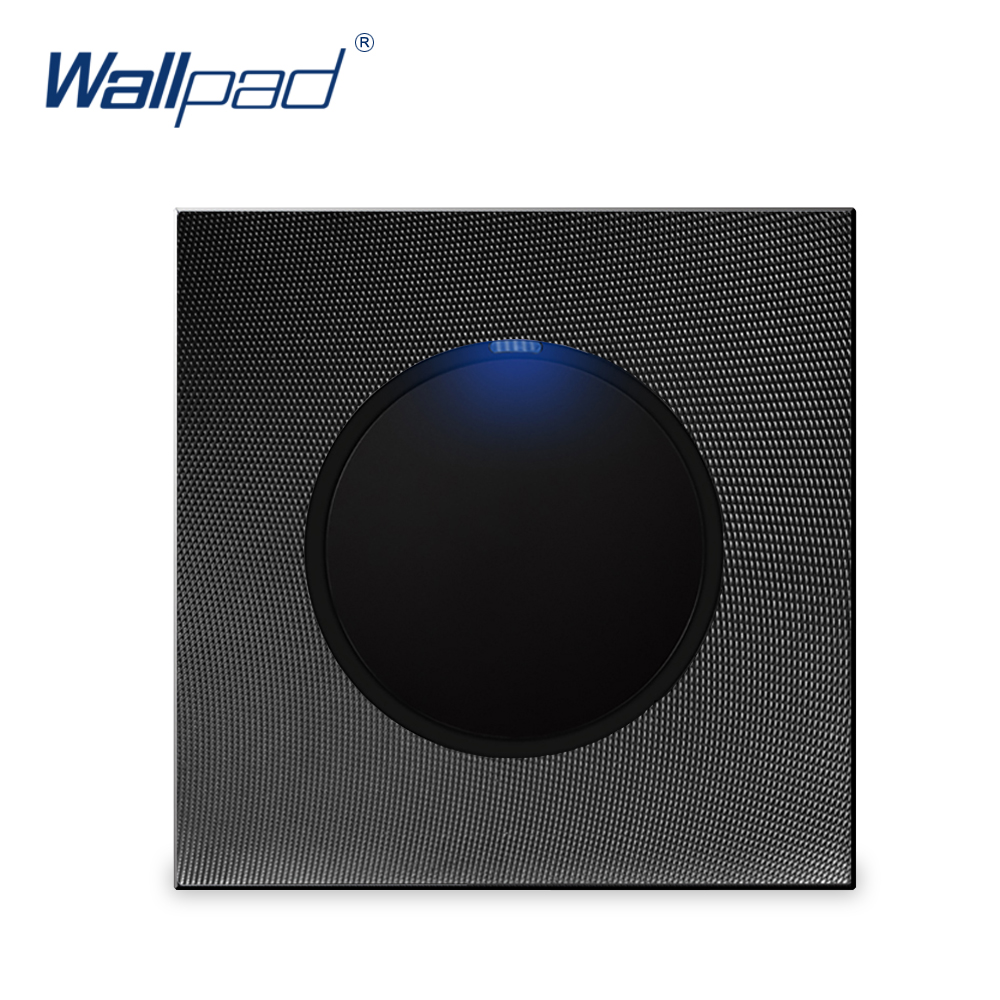 цена на Wallpad 1 Gang 1 Way Random Click Push Button Wall Light Switch With LED Indicator Aluminum Metal Panel