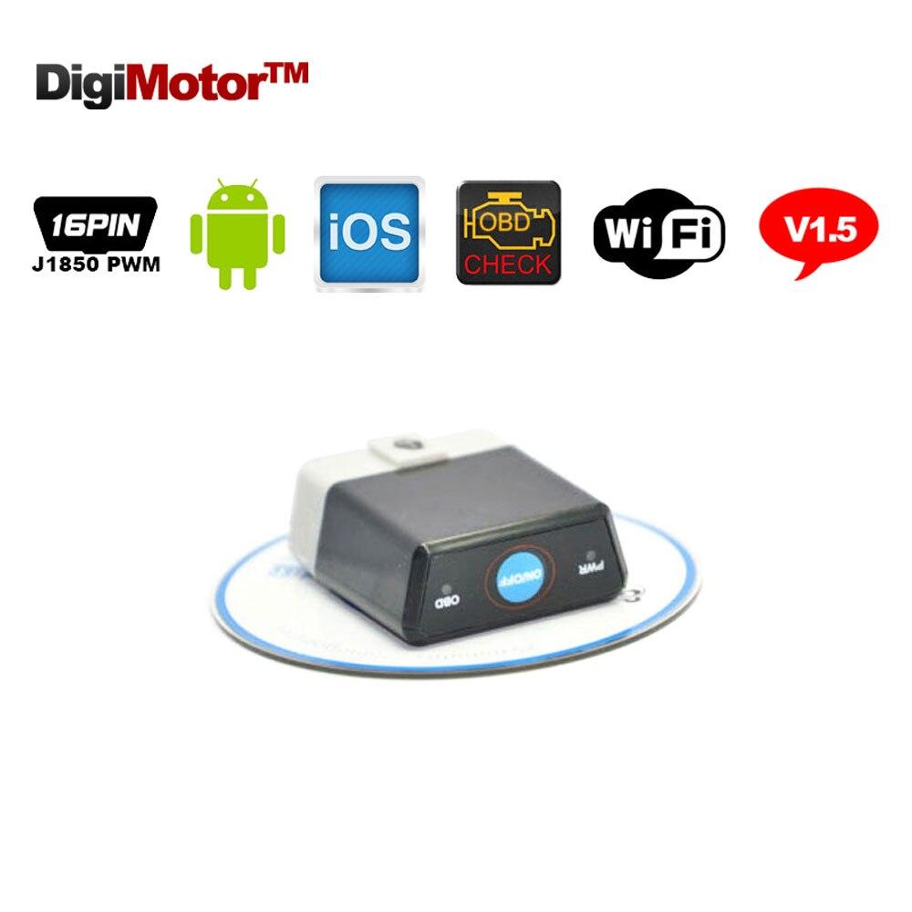 Prix pour OBD 2 ELM327 V 1.5 WIFI OBDII OBD2 ELM 327 V1.5 Pour iPhone IOS Android Voiture Scanner Automobile Outil De Diagnostic de diagnostic-Outil