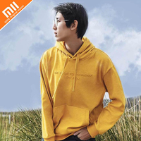 Original xiaomi 90 fun hree dimensional embossed hooded pullover sweater men and women with the same paragraph winter sweater
