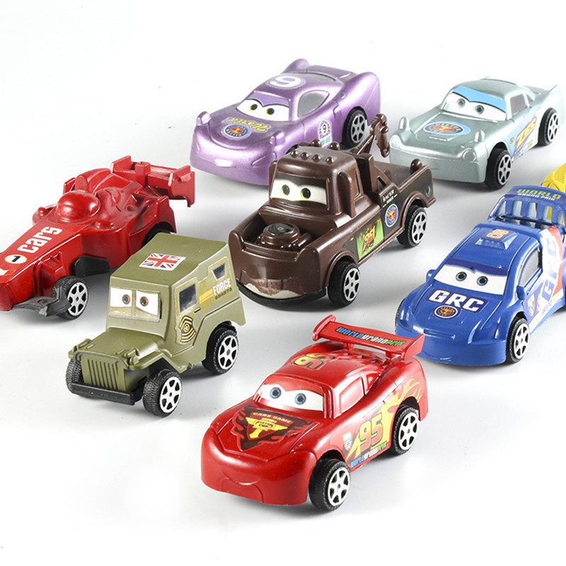 Us 3 88 Random 1pc Disney Pixar Car 3 Cartoon Toy Car Lightning Mcqueen Jackson Storm Mater Plastic Children Mini Back Car Toys Boy Gift In Diecasts