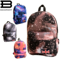2016 New GALAXY School Backpacks Vintage Canvas Printing Backpack Women Black Schoolbag for Teenagers Satchel Mochila Feminina