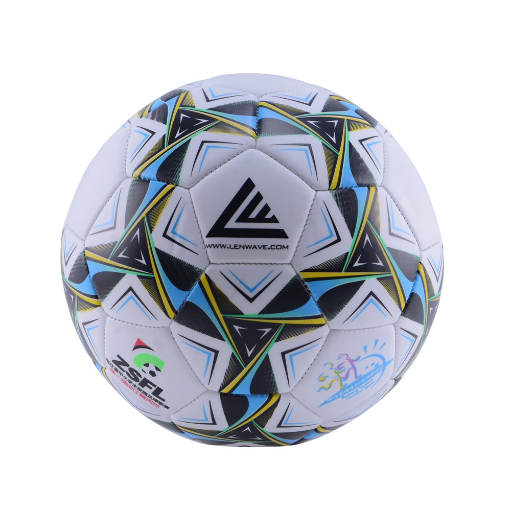 Lenwave Brand PVC Soccer Ball Size 3 Children Play Sport Training Football Ball For Kids