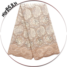 Worthsjlh Aso Ebi Voile Nigeria Lace Fabric 2018 Nigerian Green Cotton Embroidery Swiss Cream Latest African Laces