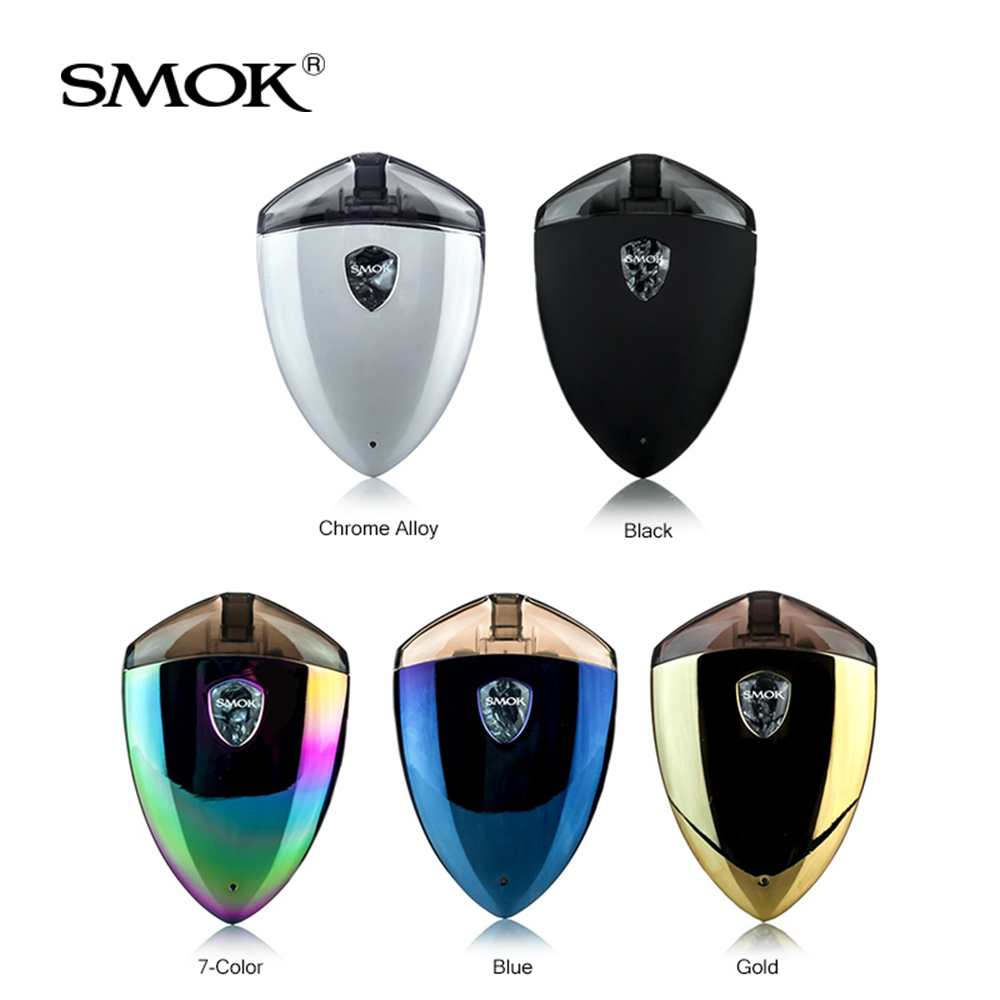 Original SMOK Rolo Badge Starter Kit All-in-One Pod System 2ml built in 250mAh Battery with LED Light Electronic cigarette kit rotary padlock digit combination code lock safe round dial number luggage suitcase security bicycle suitcase drawer cabinet