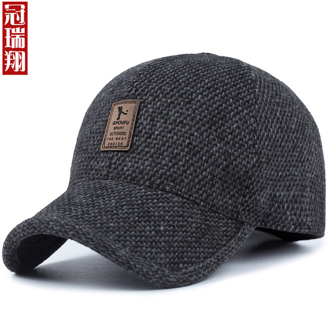 2018 Hot Sale Gorras Neymar Gorra Autumn And Winter Hat Man In Old People  Felt Trilby Outdoor Earmuffs Baseball Cap Warm Father 8e616eb81f42