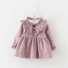 2016 hot sale 0-2Y Autumn Cotton Kids Clothes Newborn Girls Infant Dress Baby Clothing Baby Girls Dress Vestido Infantil