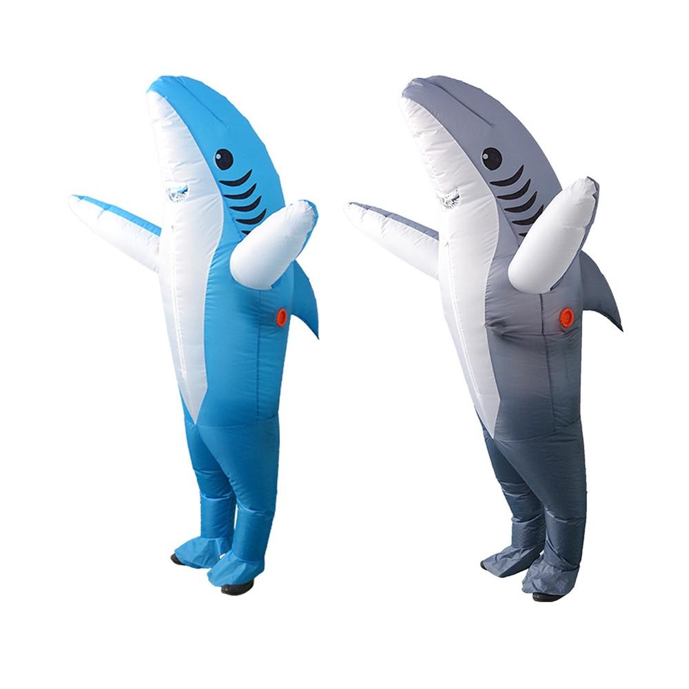 Inflatable Suit Shark Costume Shark Mascot Unisex Adult -3263