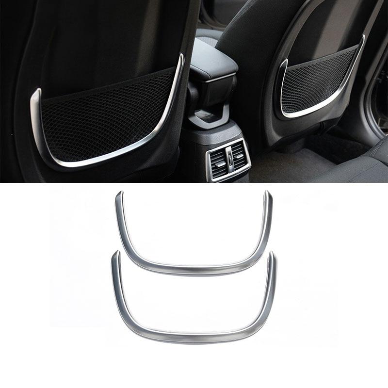 2pcs For BMW X1 F48 2016 18 ABS Matt Chrome Rear Back Net Frame Cover Trim