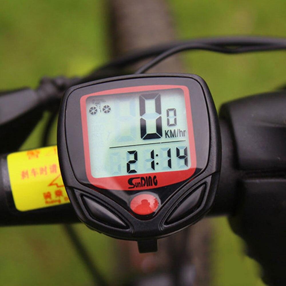 Bicycle Bike Cycling Computer LCD Odometer Speedometer Stopwatch Speed meter