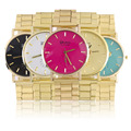 Moda Elegante Colorido de la Aleación de Acero Inoxidable Reloj Reloj de Resistencia Al Agua Relojes Mujer relogio feminino Nueva Llegada