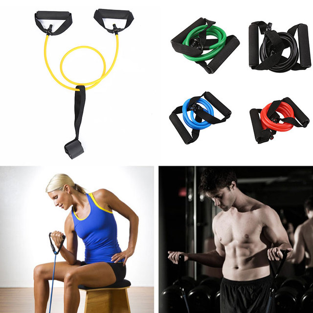 Tension Band Fitness Pull Rope Practical 5 Color TPE Stretch Arm Apparatus  Puller Yoga Pilates Home 652ed66ab