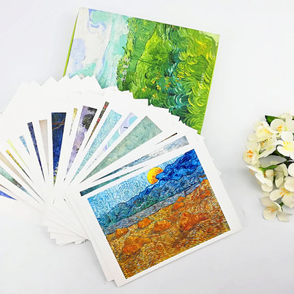 Art Postcard: Life Is Like A Summer Flower Master's Famous Van Gogh Album Landscape Painting Creative Postcard Birthday Gift