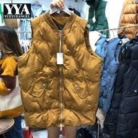 New Women Autumn Fashion Loose Waistcoats Womens Short Jacket Thick Coat Warm Down Sleeveless Vest Female Winter Parka Vest