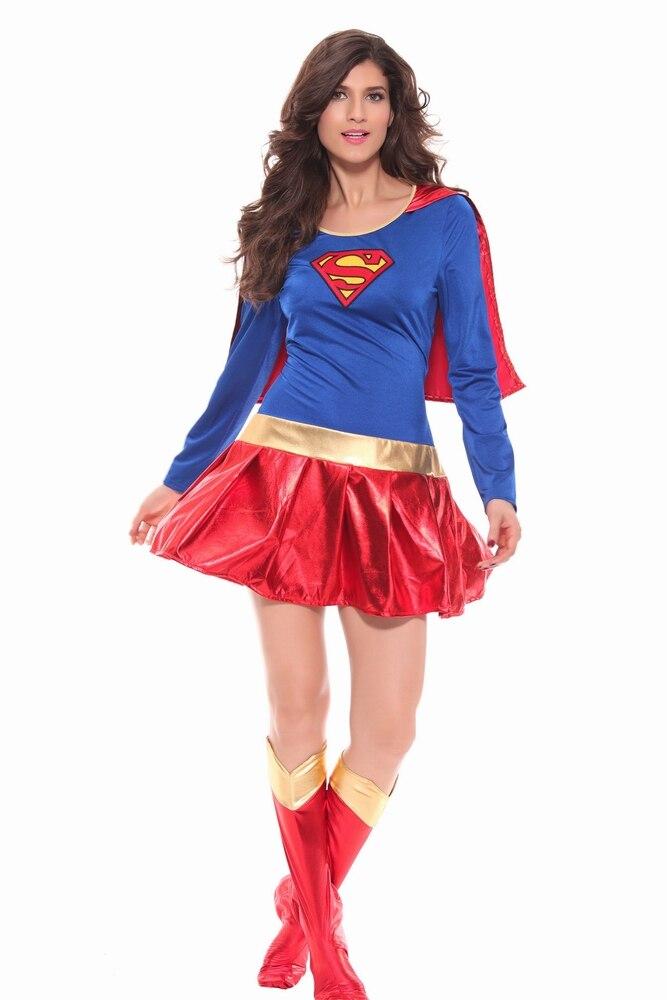 Free Shipping Top Sale Women Fashion Fancy Super Women Costumes