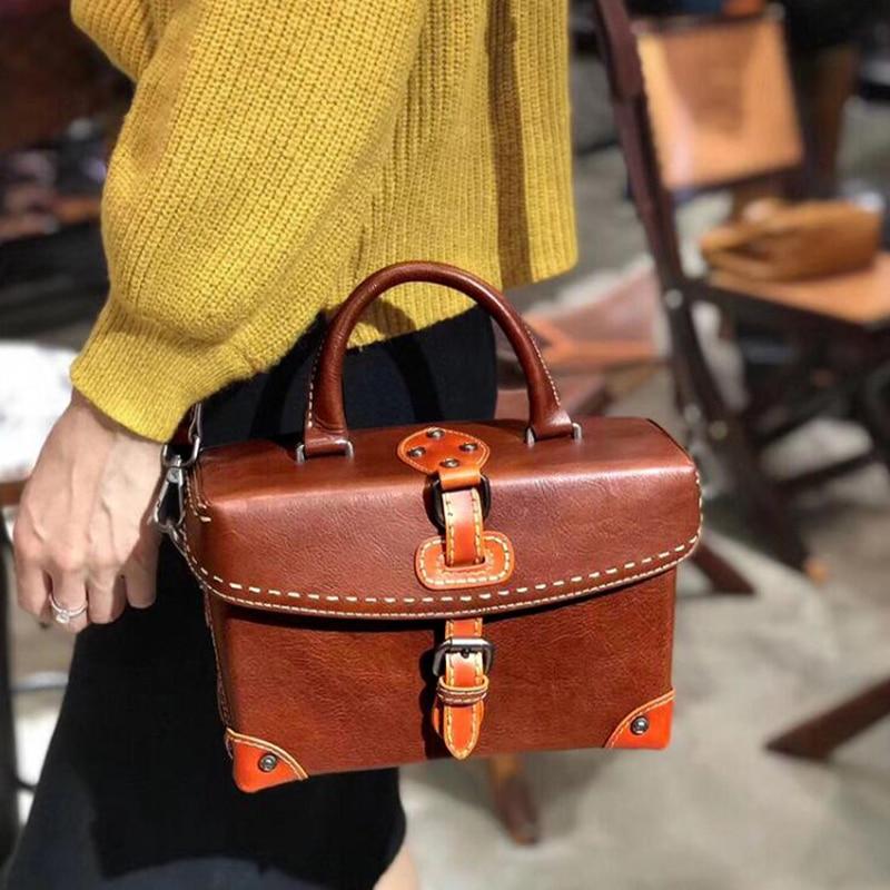 aliexpress.com - Luxury Genuine Leather Shoulder Crossbody Bag Female Designer  Messenger Bags Vintage Women Famous Box Tote 100% Cowhide Handbags - imall.  ... a1732302ed