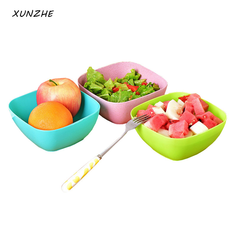 XUNZHE Food-grade plastic 14.5 * 9 * 6.5 cm salad bowl fruit plate, fruit plate seeds small snack candy dish dried fruit bowls