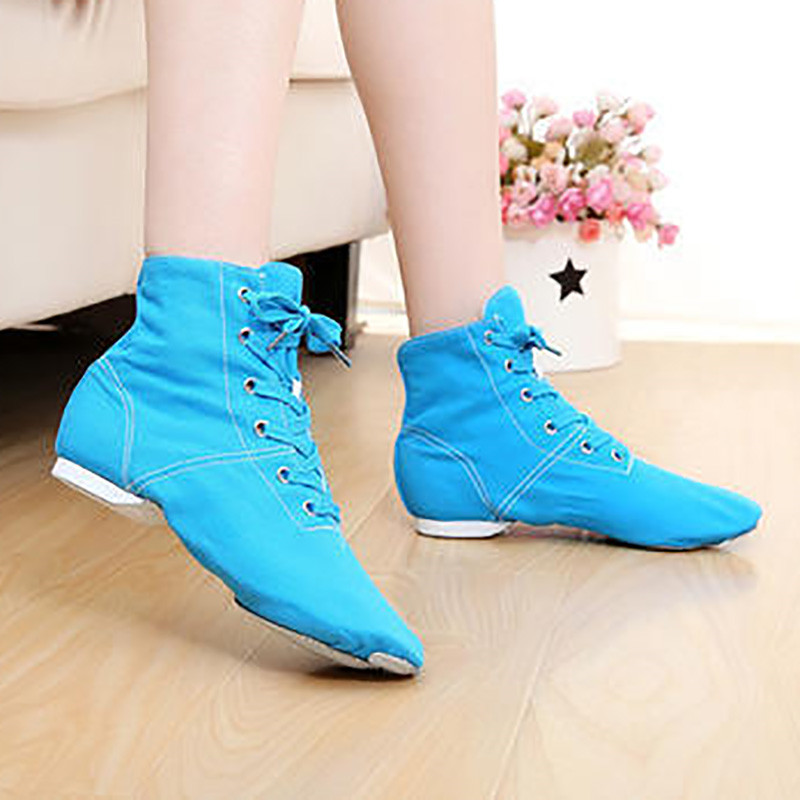 Black Blue Red Canvas Light Weight Boot Fitness Jazz Yoga ...